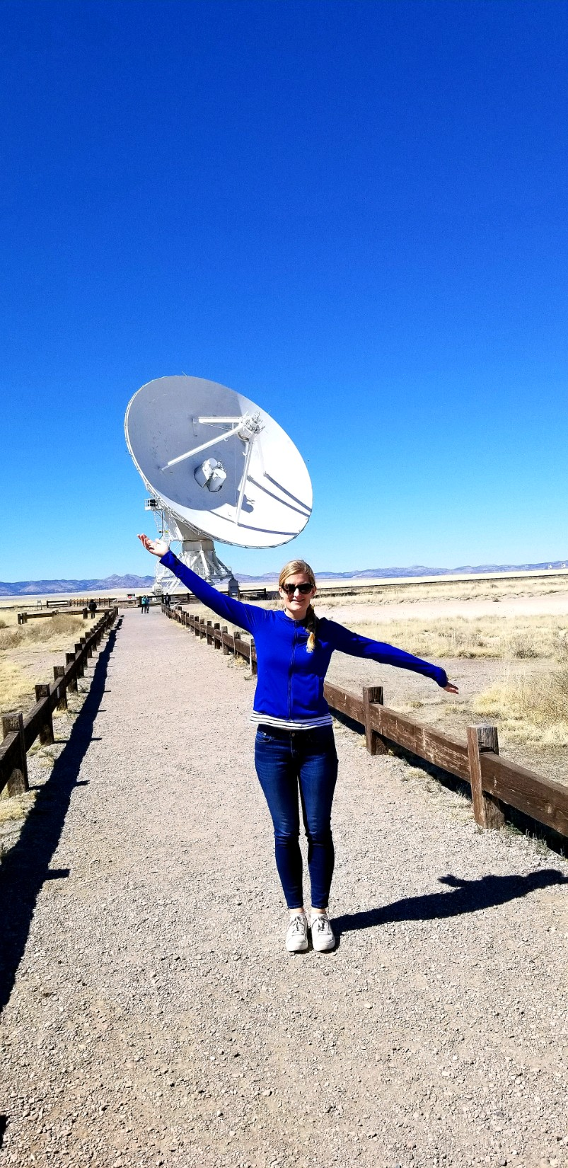 Image of author at VLA