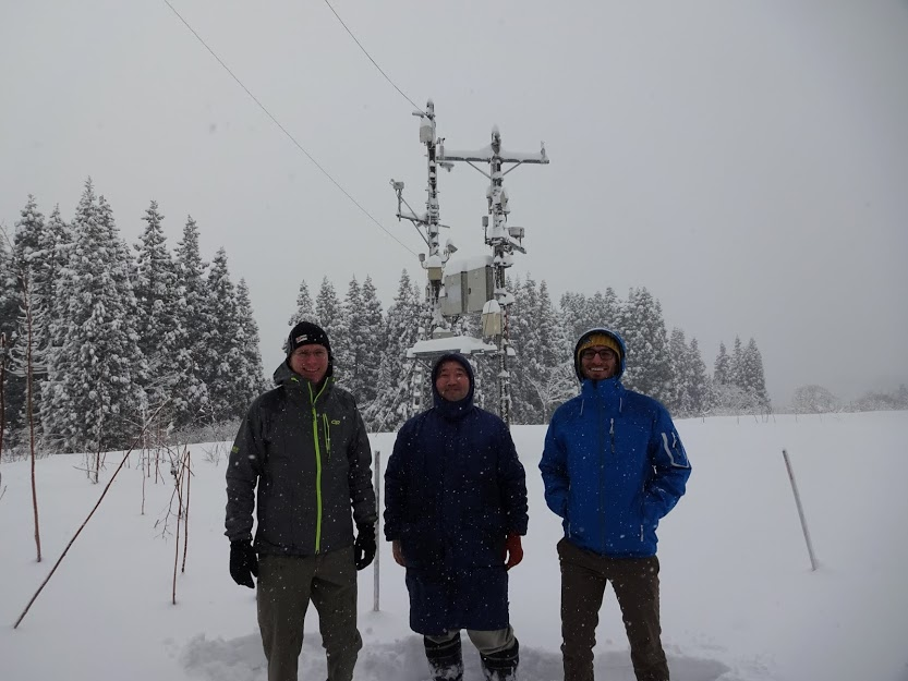 snow scientists in Japan