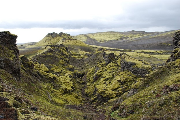 Volcano fissure in Iceland