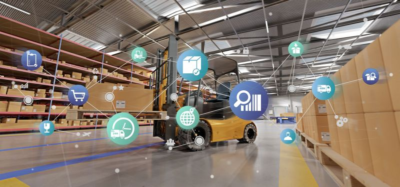 AI and warehouse worker