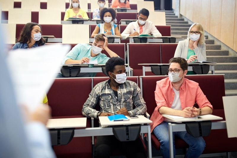 Students return to classroom with masks