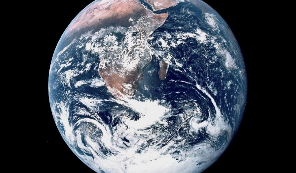 A photo of earth as seen from space