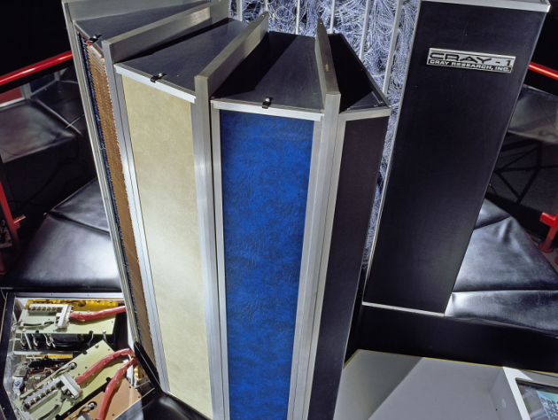 An early supercomputer, called Cray-1, which is now part of the National Air and Space Museum's collection.
