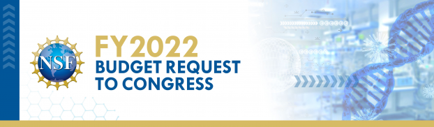 Banner that reads: FY 2022 Budget Request to Congress
