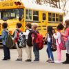 Students and bus from shutterstock